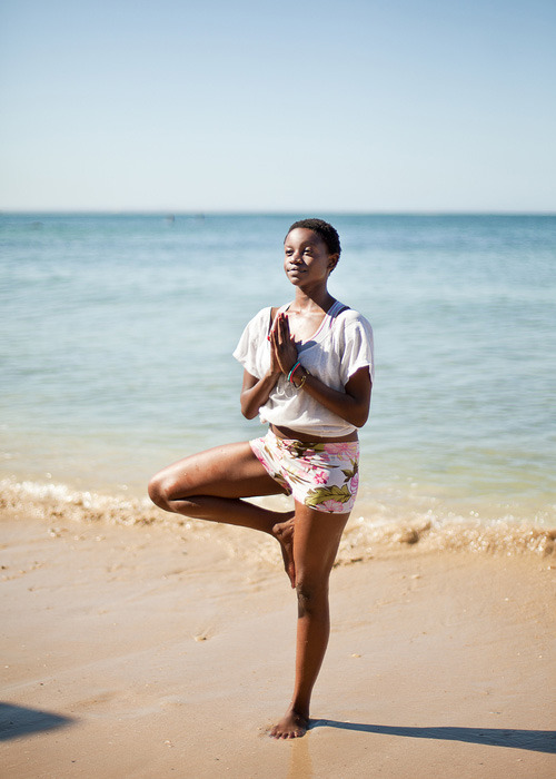 yoga beach health travel wellness
