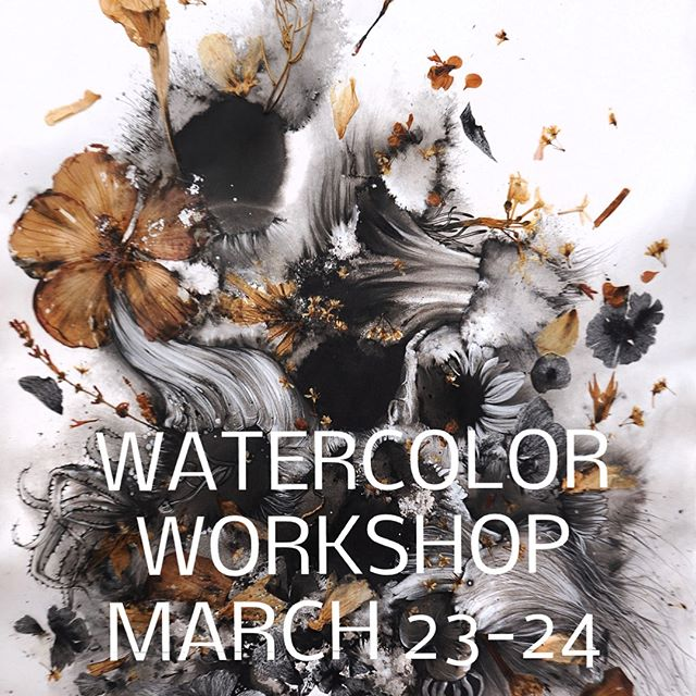 I'm excited to be working with @hullartacademy in Carrollton, Texas to teach a two day painting workshop.  The workshop will focus on using ink and watercolor along with pressed plants to make abstract botanical illustrations.  Swipe to see workshop details and check out www.hullartacademy.com for more info and to sign up. 🙌🏻