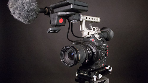 The C300 kit includes extras that make shooting easier and more flexible.