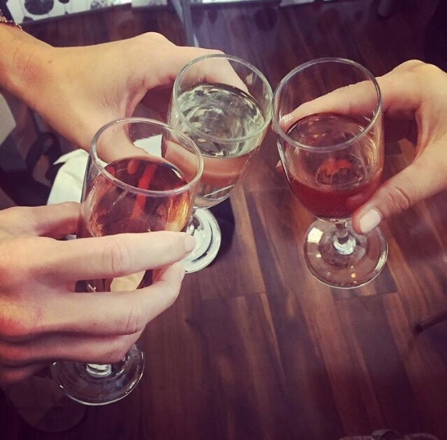 """Cheers"" to a fabulous boudoir session at Studio Adorn!"
