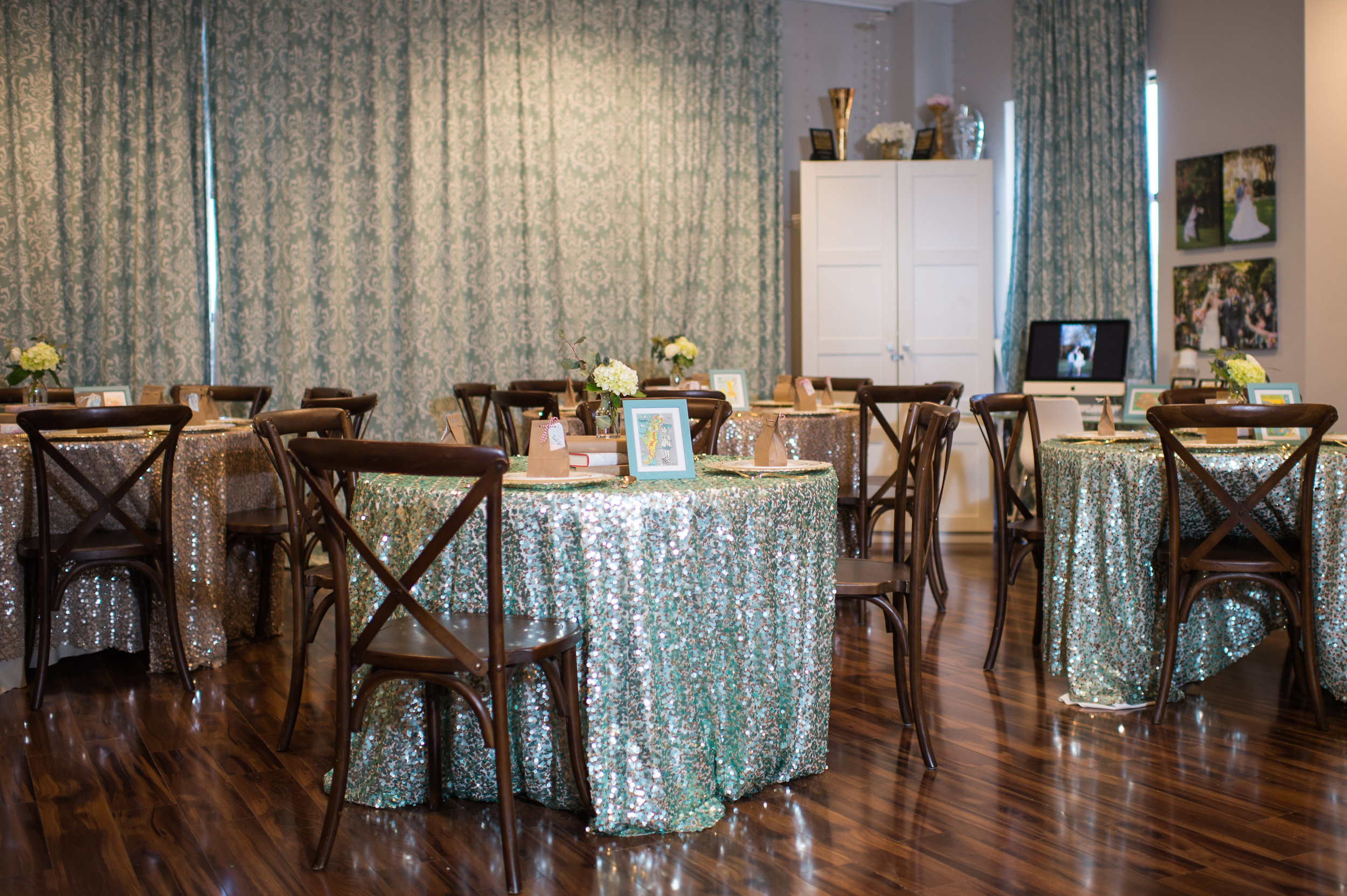 There is plenty of space to bring in tables or to use as you need.                                              Photo by: Leah Langley Photography