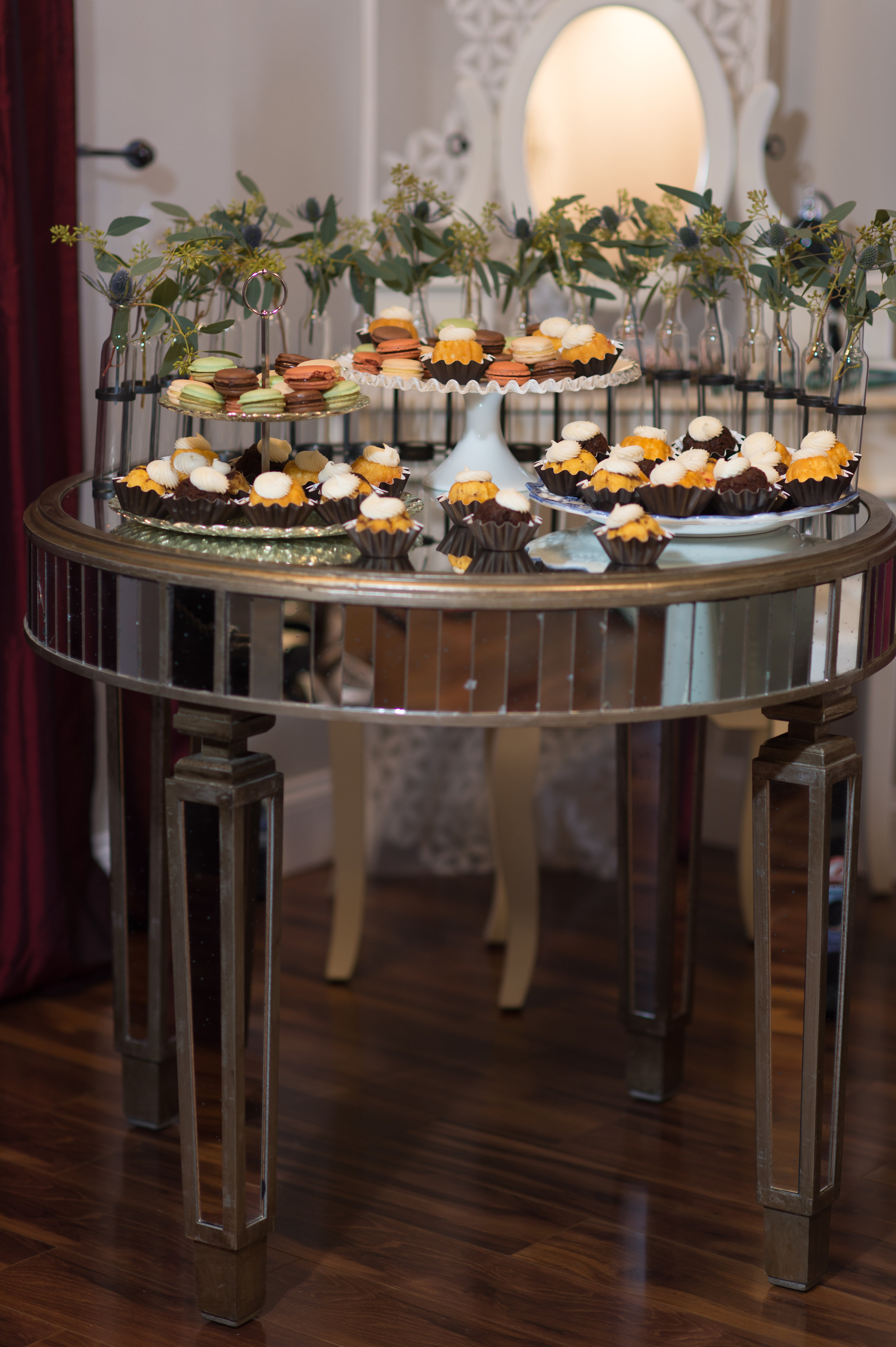 Do you want a super cute dessert table? No problem, there is space for that!                        Photo by: Leah Langley Photography