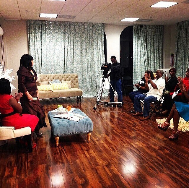 Behind the scenes of a talk show with Dr. Solomon.