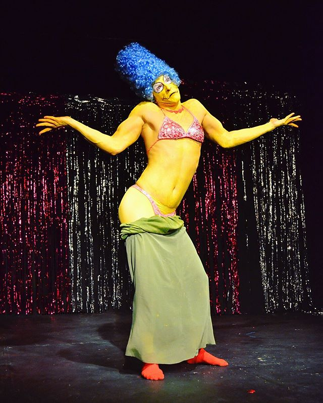 I'll krump with you, sweetie pie! 2 chances to see Marge Madness this week: Tonight 10:30 @crescent_moon_nerdlesque for the Boob Tube Cabaret & Friday the 20th at 8 PM for Homersexual: A Simpsons Burlesque Parody produced by @badtastechicago (tix in their bio) See you there, kidz! 📷: @half_mt_photo . . . #margesimpson #simpsons #simpsonsfan #nerdlesque #instadrag #cartooncosplay #gaycosplay #instaqueer #queerart #queertheatre #simpsonsmemes #lisaneedsbraces #crossplay #crossplayer #cosplay #bodypaint #genderqueer #genderbender #genderreveal #chicagodrag #thingstodoinchicago