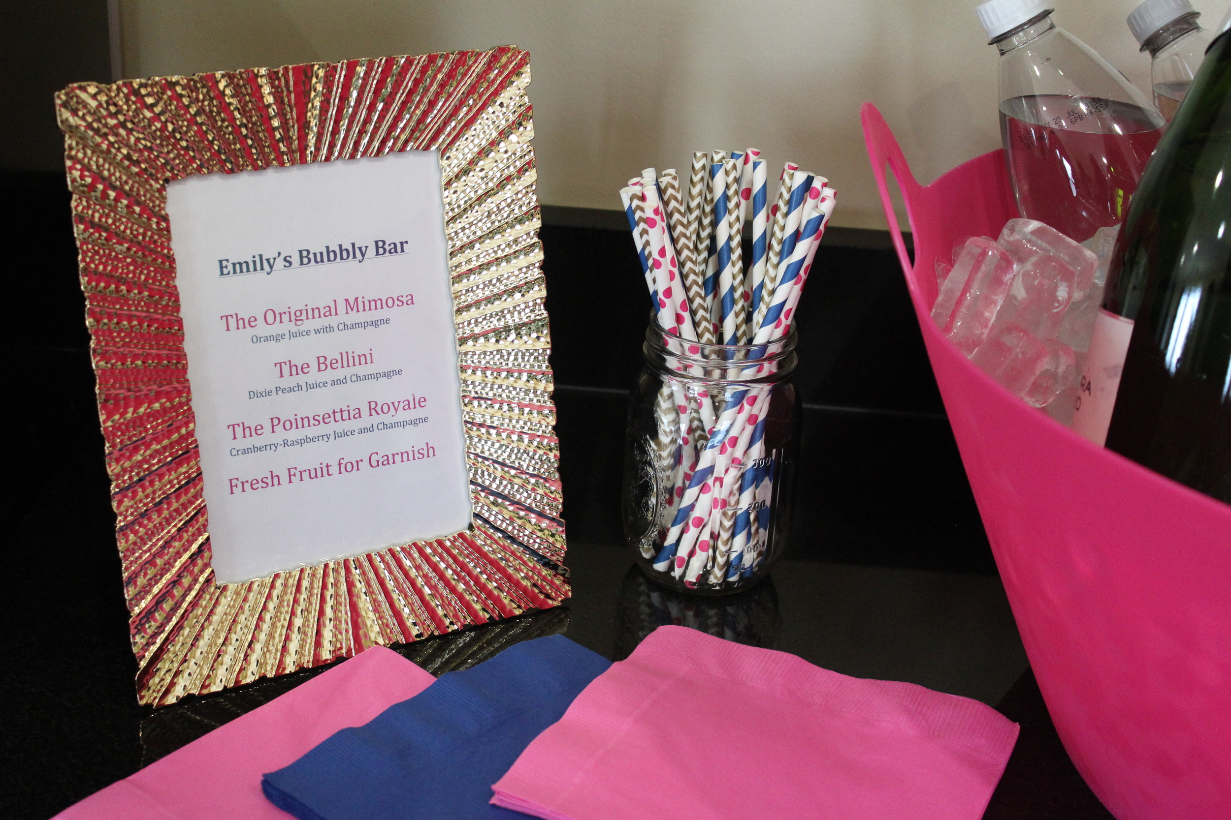 The Bubbly Bar had all the perfect fixins to make an awesome Saturday morning drink!