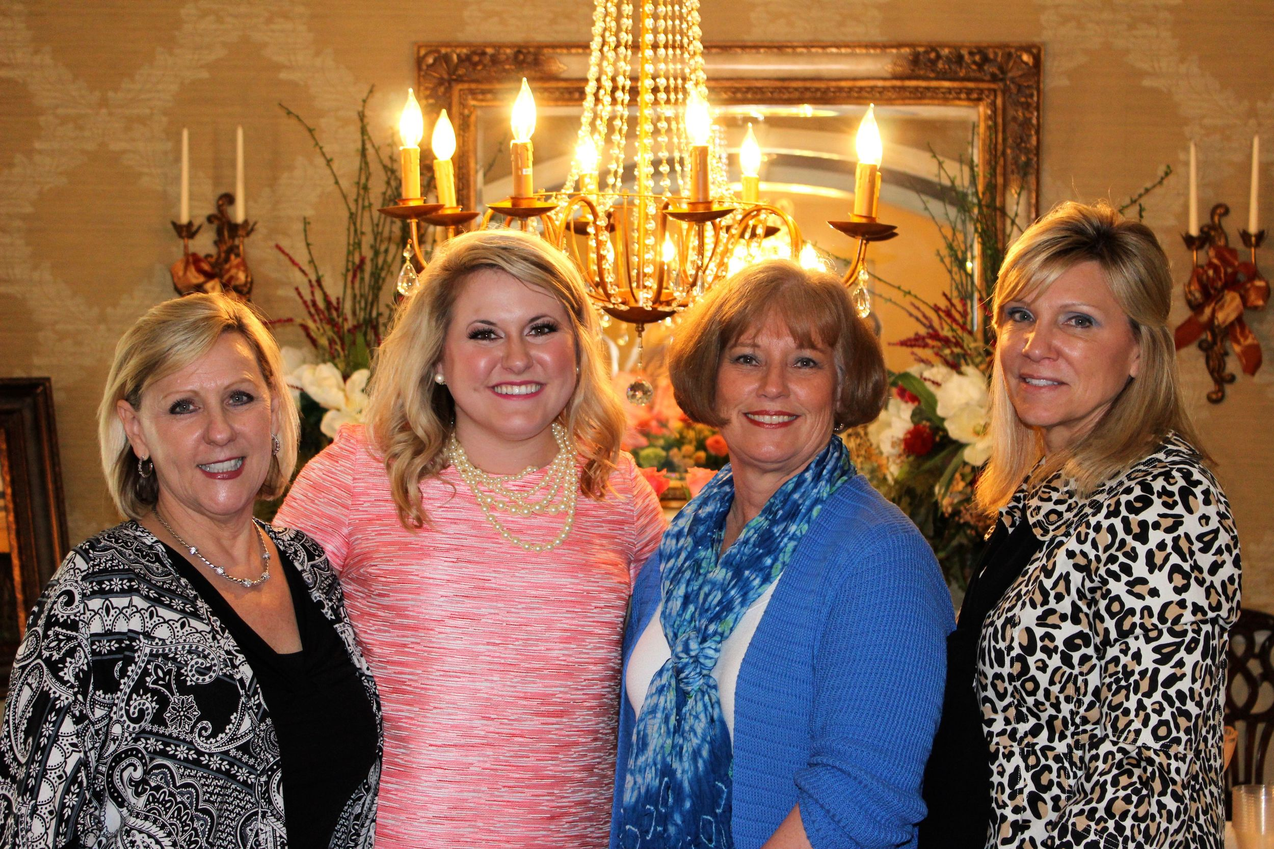 The lovely hostesses! Debbie, myself, Kathy, and Becky