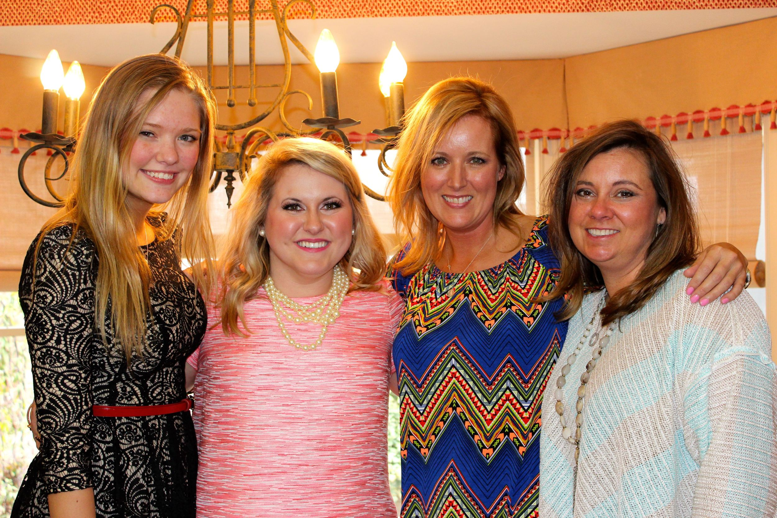 I have a beautiful family! My cousin Erin, myself, my cousin Tracey, and my sweet step-mom Jamey