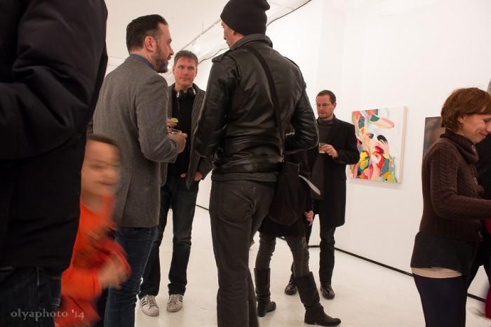 The art crowd at BFP in Bushwick.