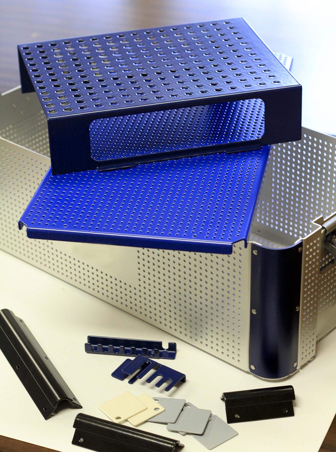 Nylon coated medical trays and brackets..