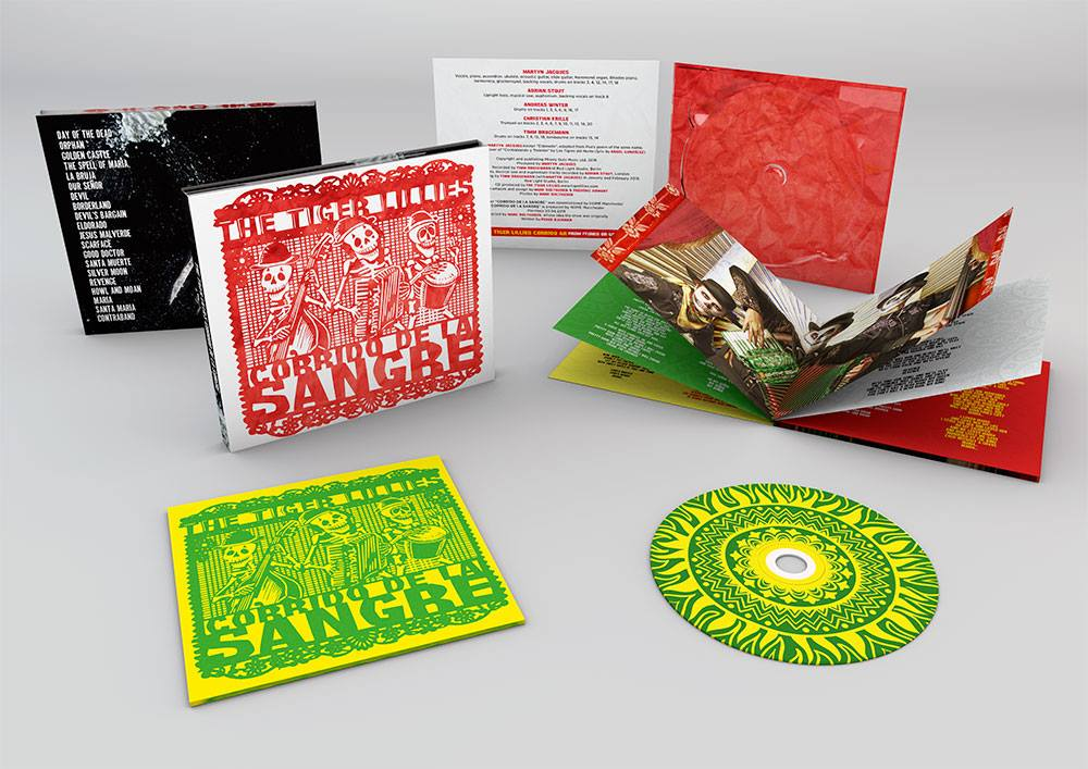 This is the 4th CD I've  designed for the Tiger Lillies, this one is for the soon to be released album Corrido De La Sangre that will accompany our new show of the same name.