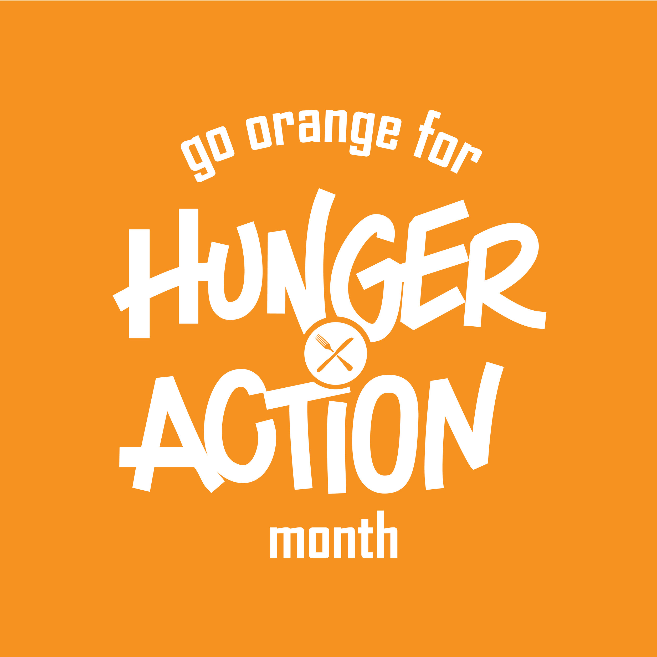 Second Harvest Heartland's Sept. 2016 word mark for Hunger Action Month.