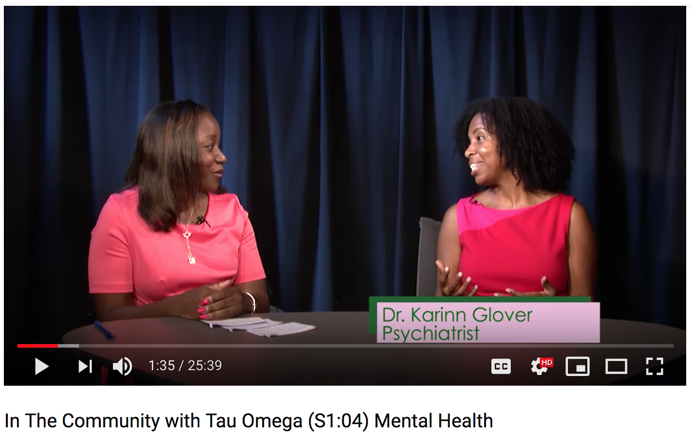 In the Community with Tau Omega Feature with Dr. Karinn