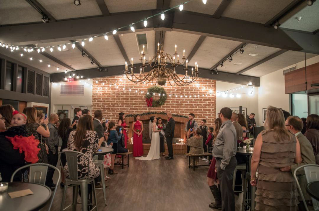 The Commons is a great wedding venue for ceremonies of 40 to 60 guests.
