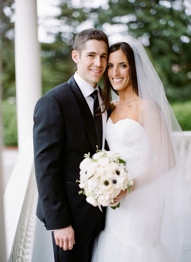 bride and groom portrait at the Inn at the Presidio in San Francisco