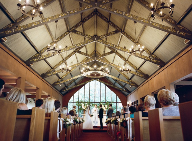 Wedding ceremony at Chapel of Our Lady in the Presidio San Francisco