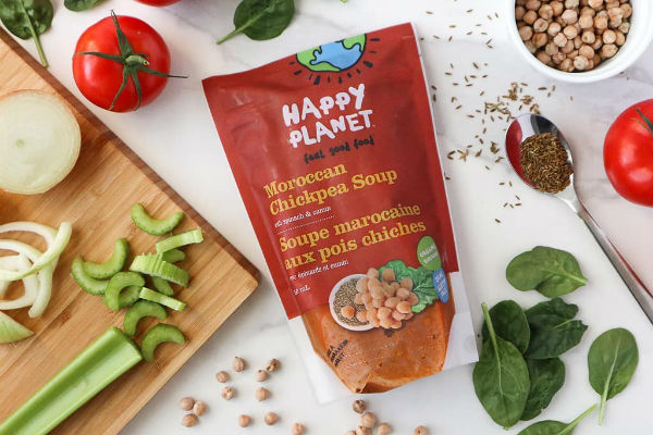 Happy Planet - Warm and fill your tummy with some soupy goodness from Happy Planet. Made without preservatives or artificial ingredients, Happy Planet soups are ready-to-eat after they're heated. They're also available in organic, gluten-free, dairy-free, vegetarian, and vegan.Image: instagram.com/teamhappyplanet