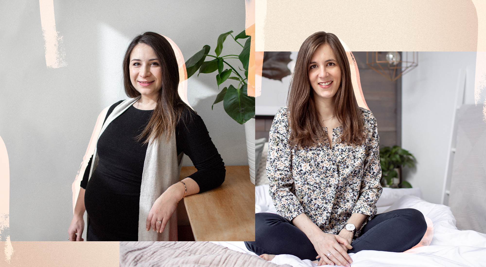 Alexandra Voyevodina (left) and Violette Coquatrix (right); (Photo: Chris Pangan; graphic design: Cat Walrond)