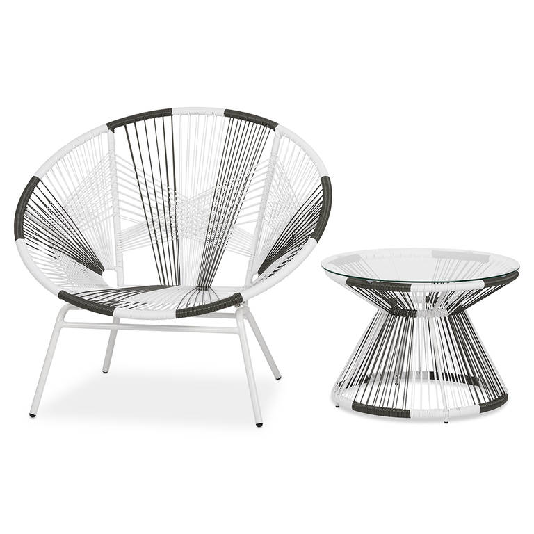 Porto chair and side table - Some things are better when they're together, and that's especially true for the Porto chair and side table. Their unique, Bohemian vibe will keep your outdoor aesthetic looking easy-breezy.