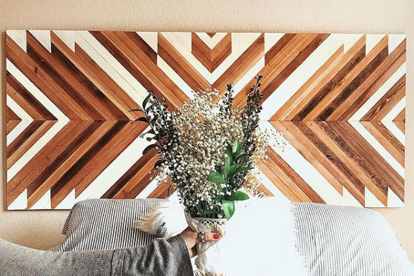 The beauty of  @hellotanisha 's headboard will make you want to get crafty and make a wooden headboard of your own too.