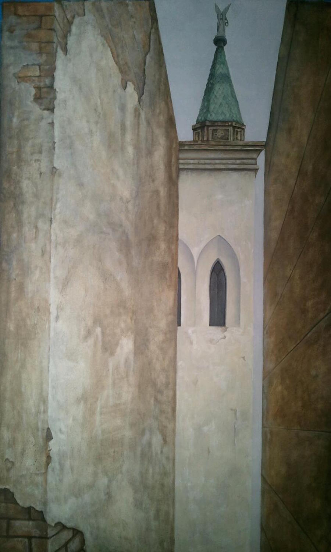 "La Recoleta Oil on canvas 62"" x 48"""