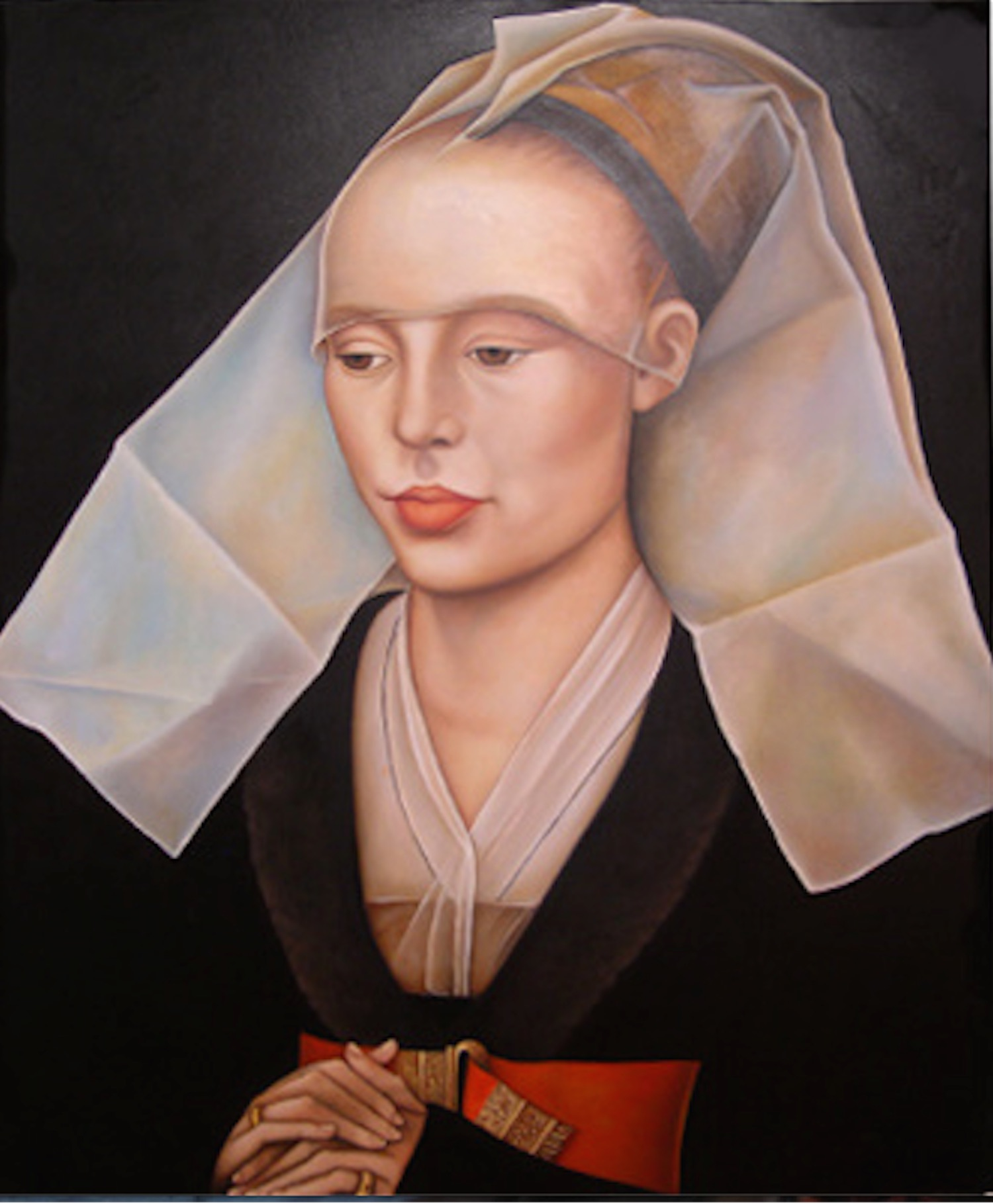 """Portrait of a Lady Oil on canvas58"""" x 48"""""""