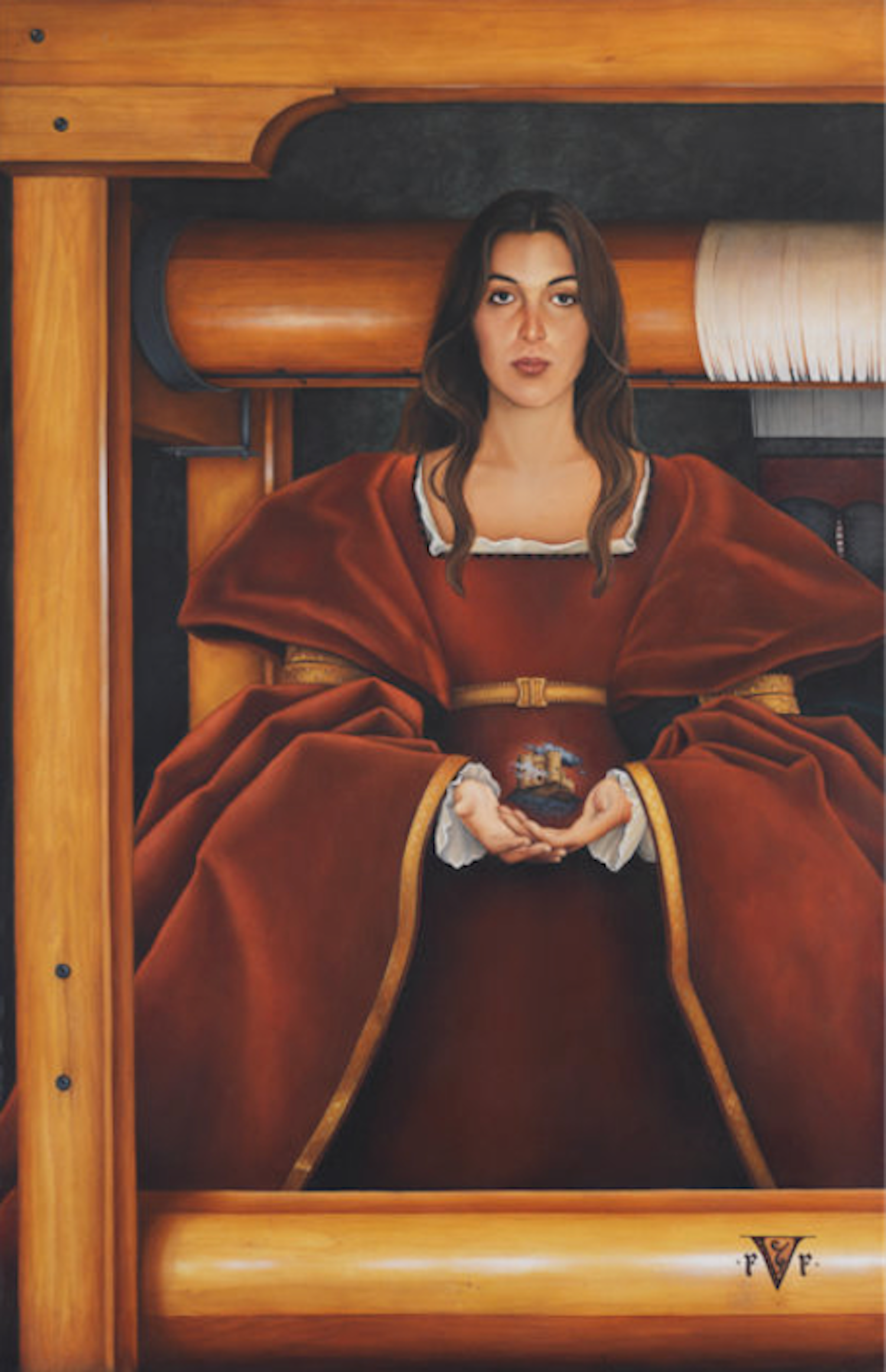 """The Weaver Oil on canvas68"""" X 44"""""""