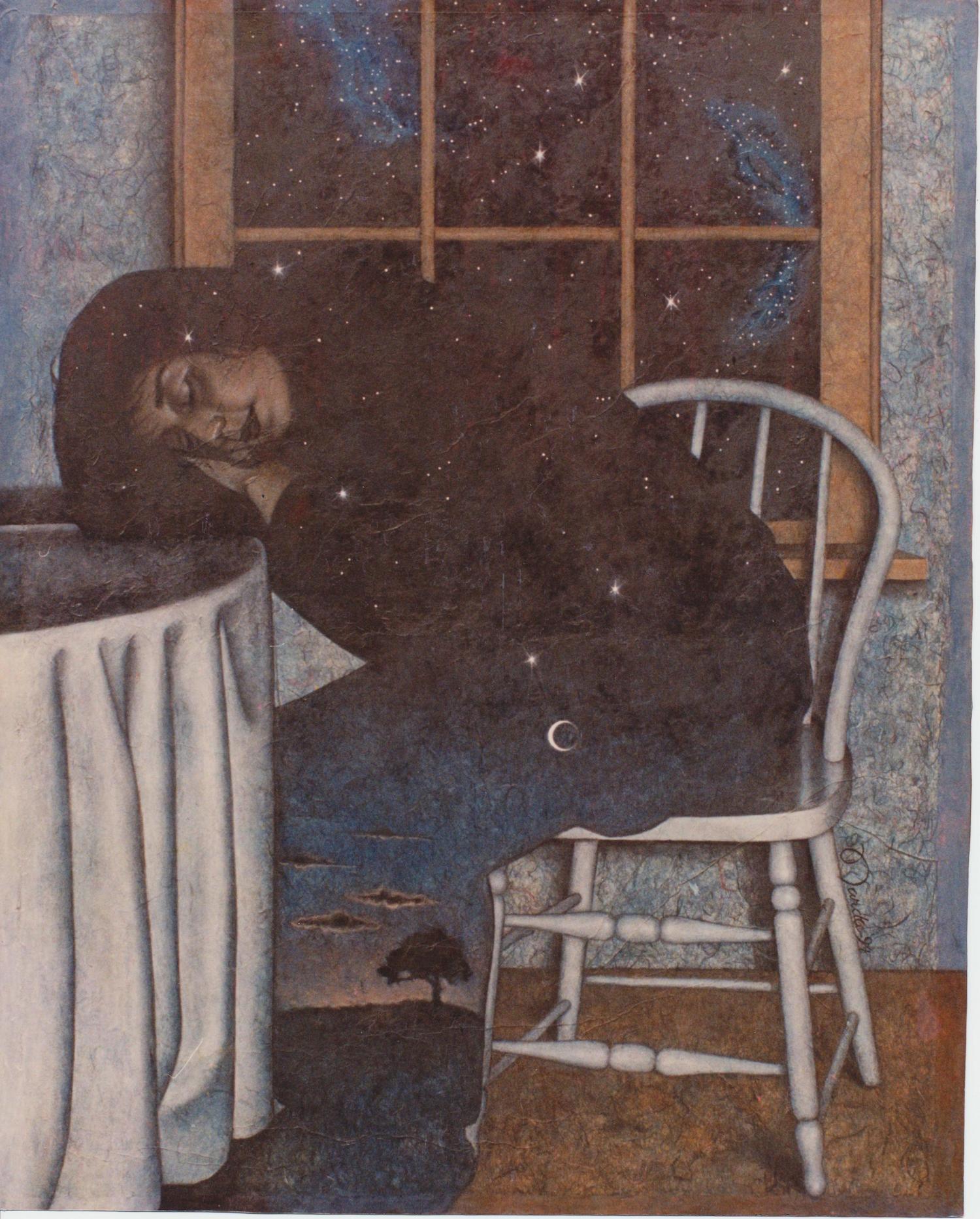 """Daniella Oil and unryo paper on canvas66"""" x 42"""""""