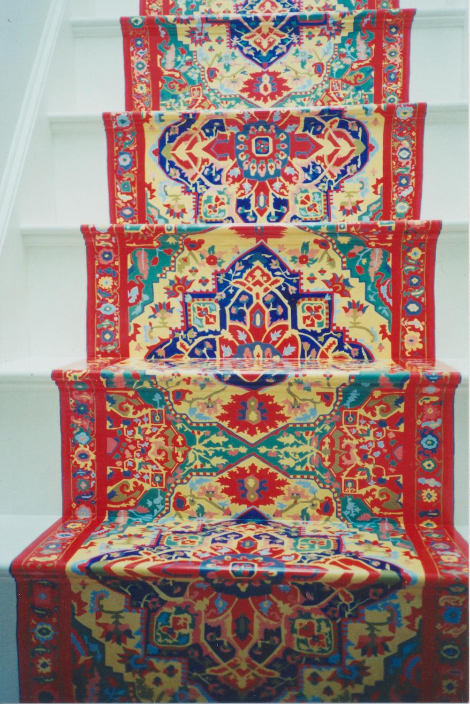Trompe L'Oeil staircase rug