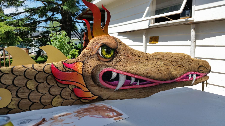 Driftwood Lake Dragon Detail  Jun 18 – Jul 2 2016 at Bell Street Gallery