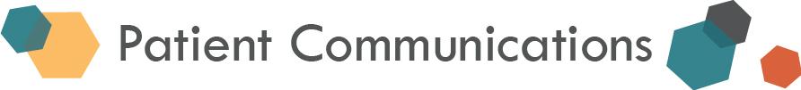 Patient Communications (Patient Engagement) Header