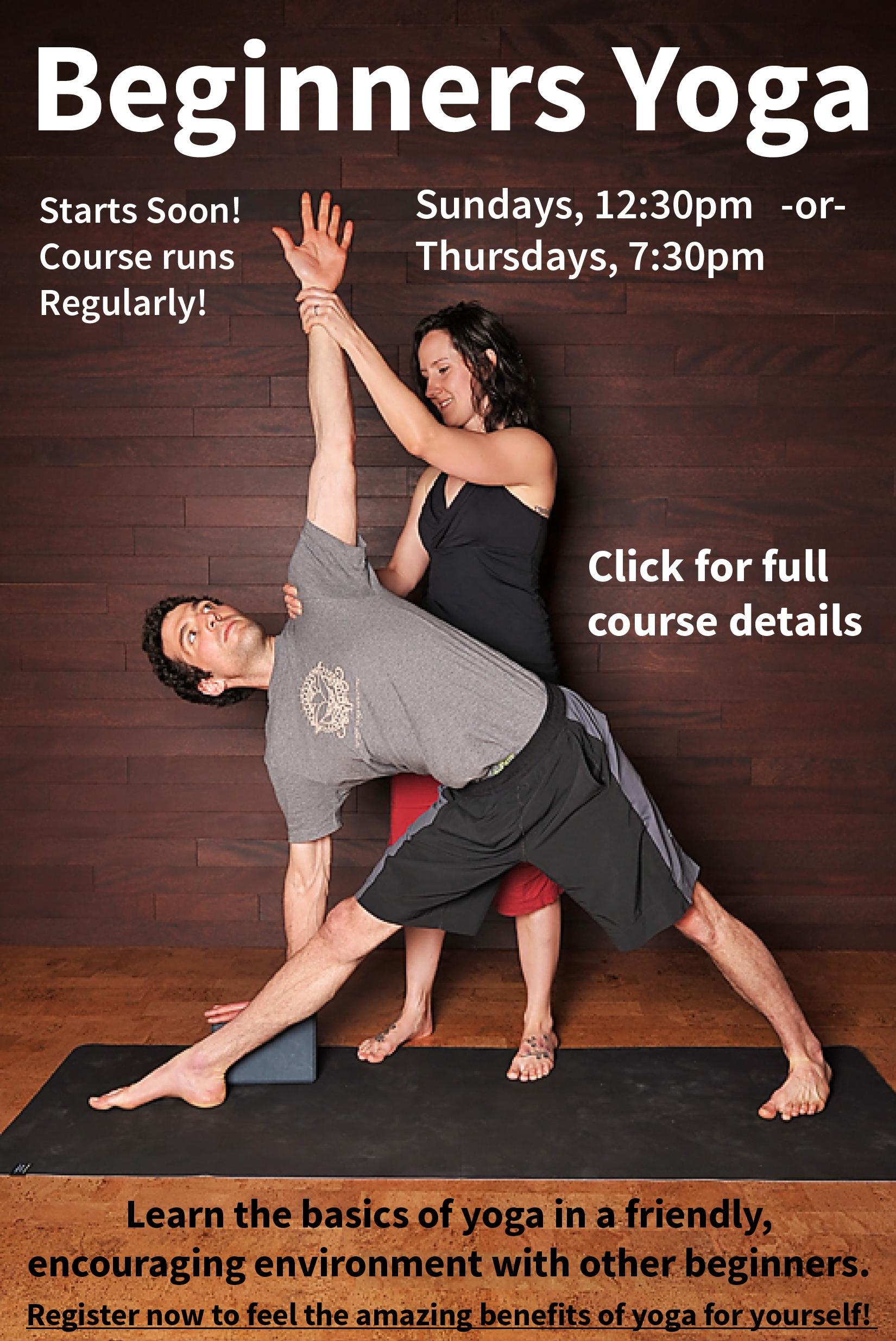 Beginners Yoga runs in White Rock Regularly!