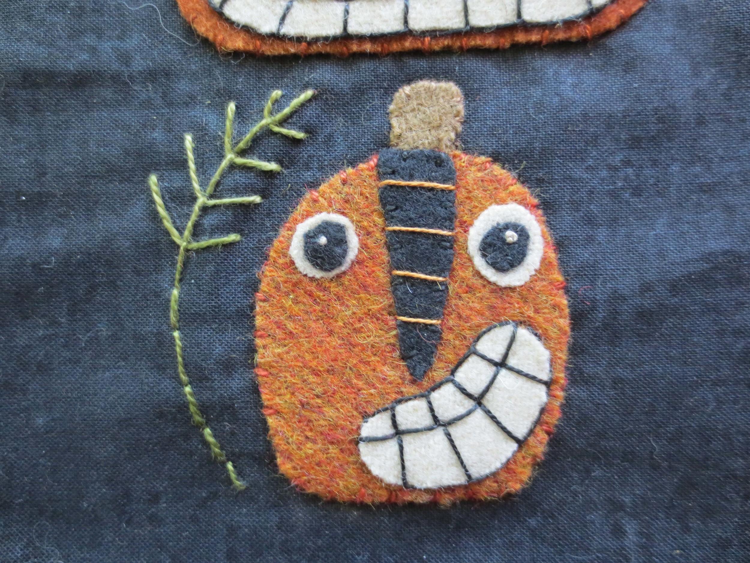 Back stitched stem