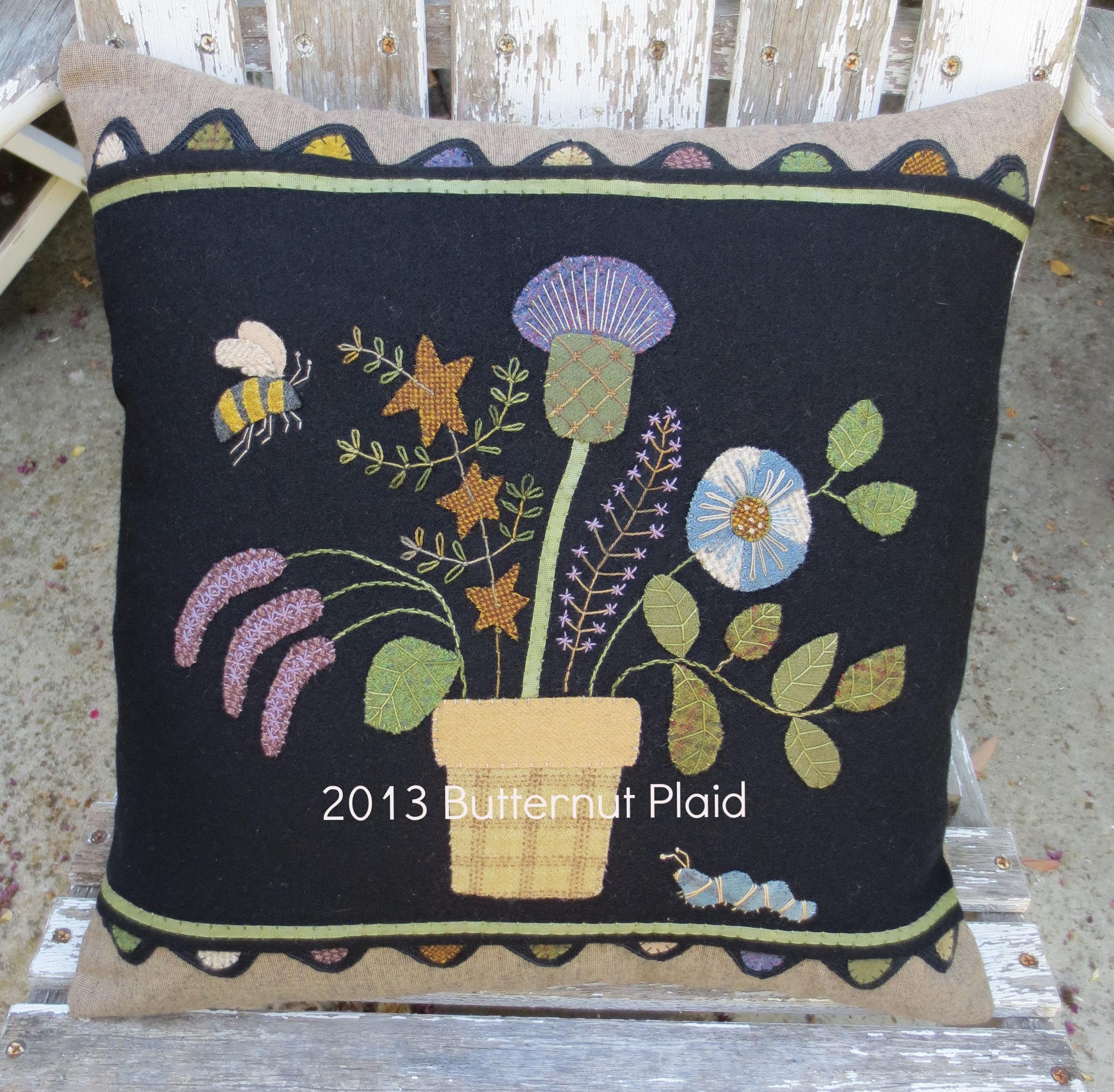 Flowers From My Garden - Block #2 Pillow