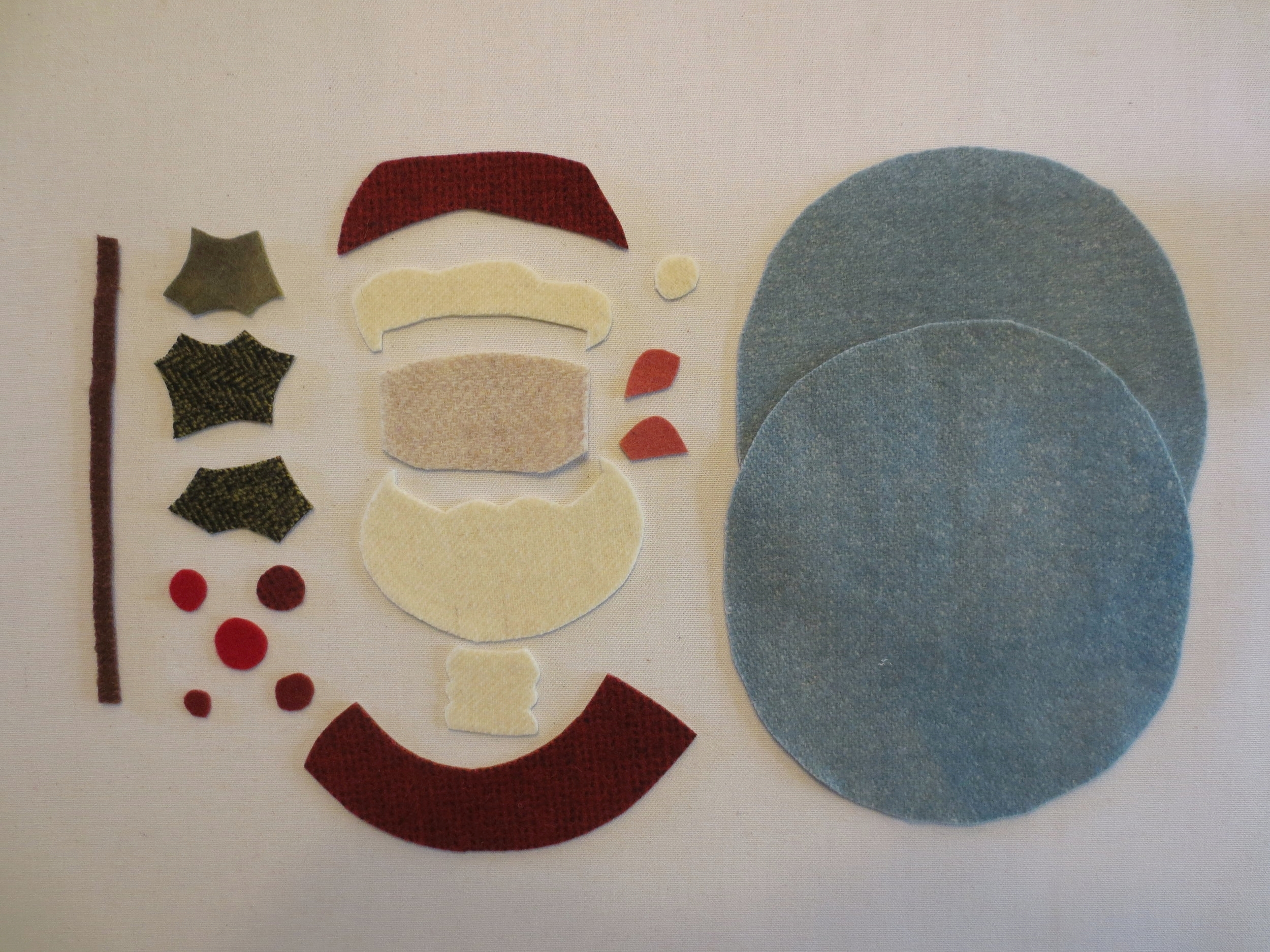 Wool for Jolly St. Nick ornament
