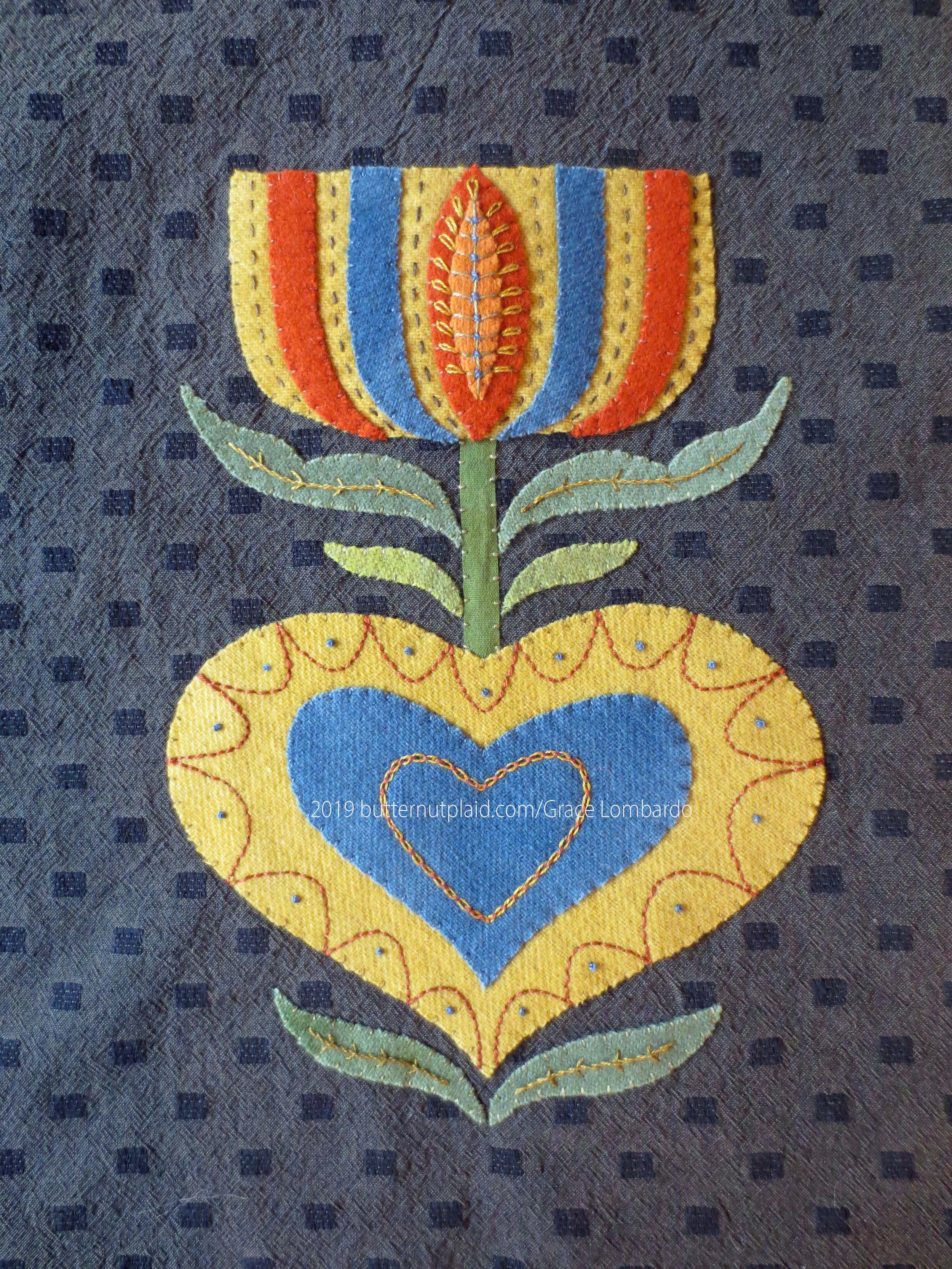 Blooming Hearts pillow