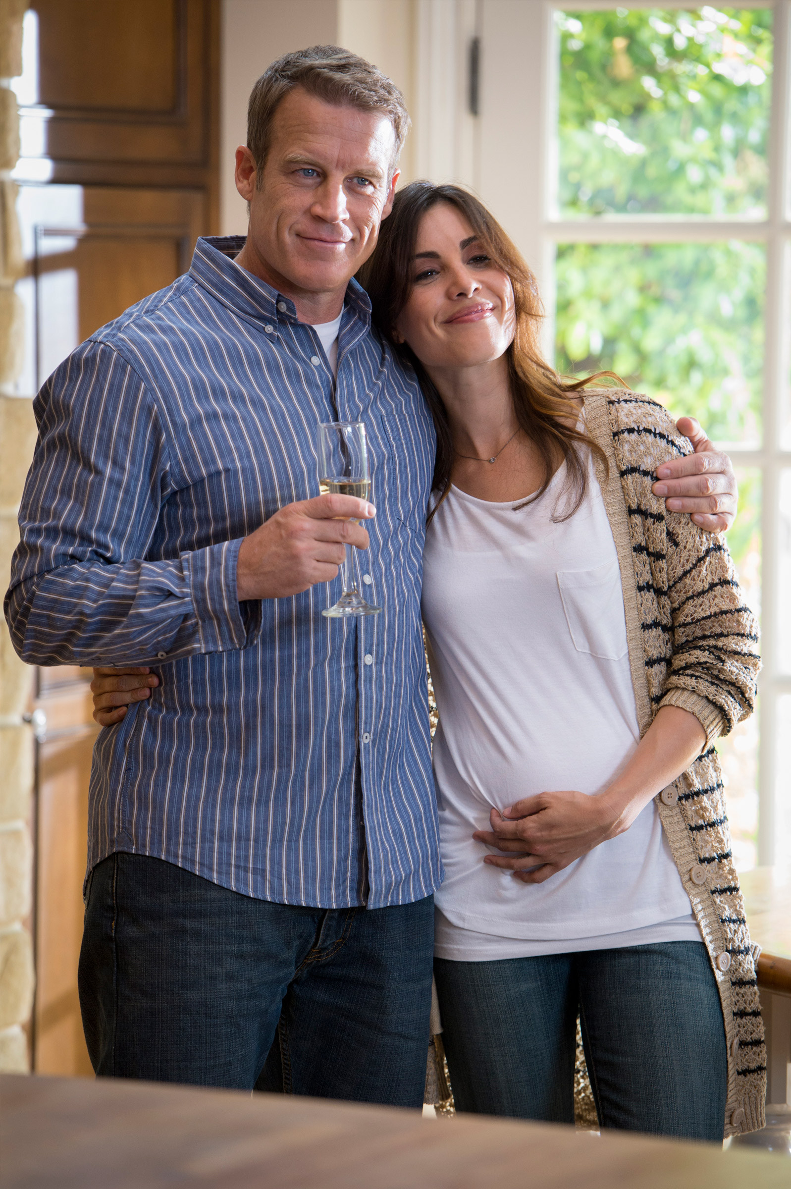 Mark Valley and Carly Pope in The Lost Boy.