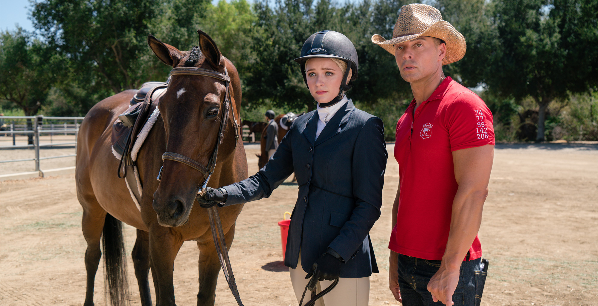 Greer Grammer and Joey Lawrence in Emma's Chance