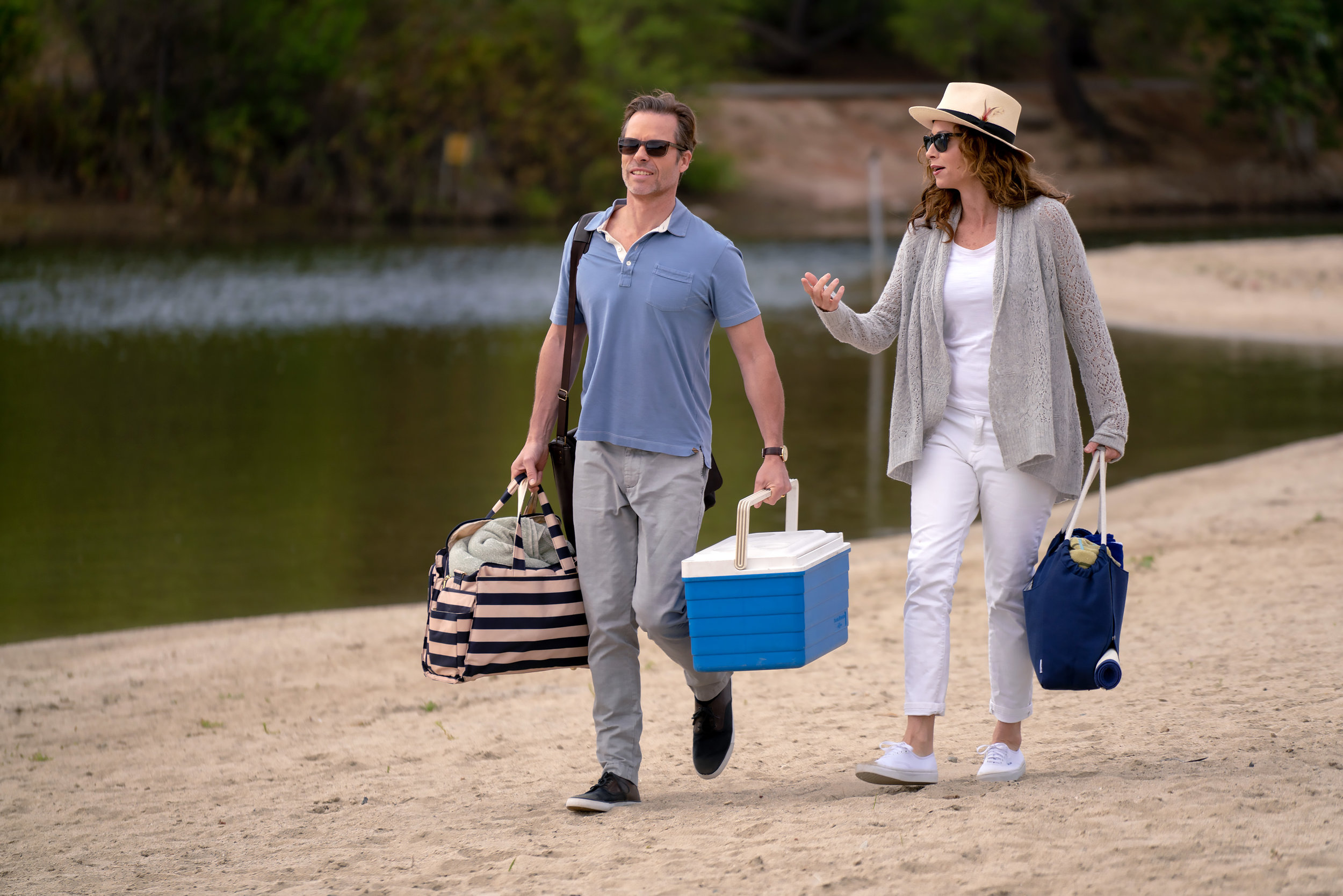 Guy Pearce and Minnie Driver in Spinning Man