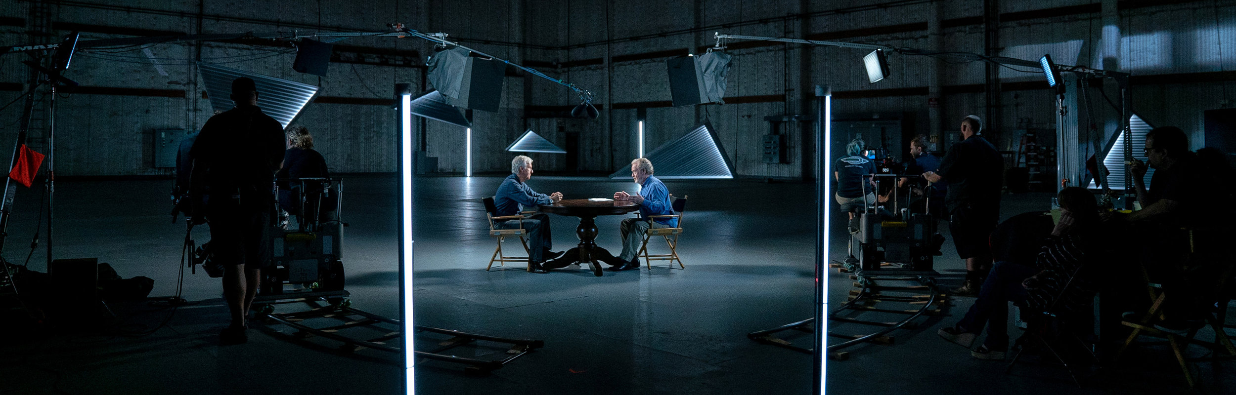 Ridley Scott with James Cameron for The Story of Science Fiction