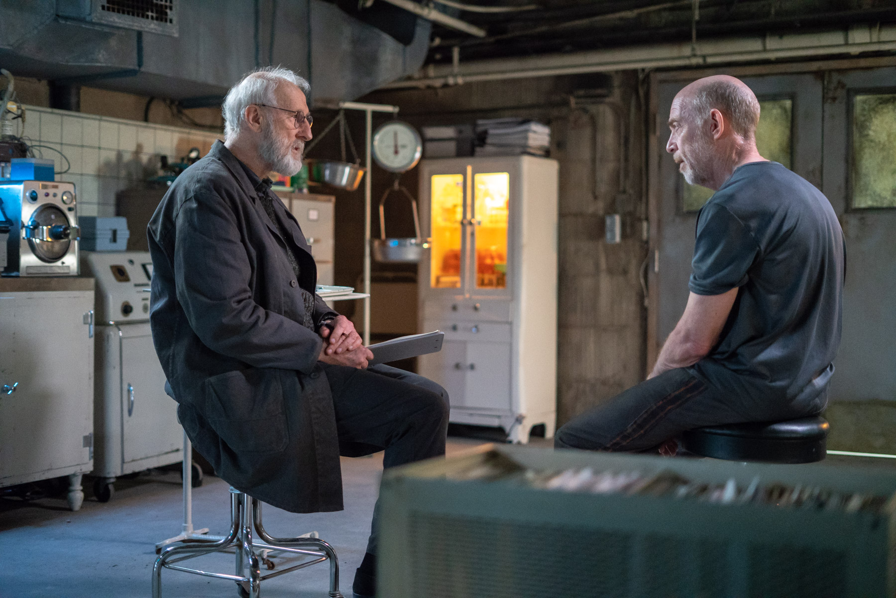 J.K. Simmons and James Cromwell in Counterpart, Season 2.