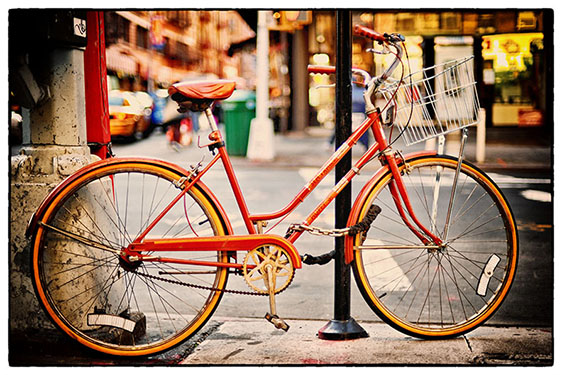"""Red Bike"" by Scott Takeda. Part of his ""Street"" collection."