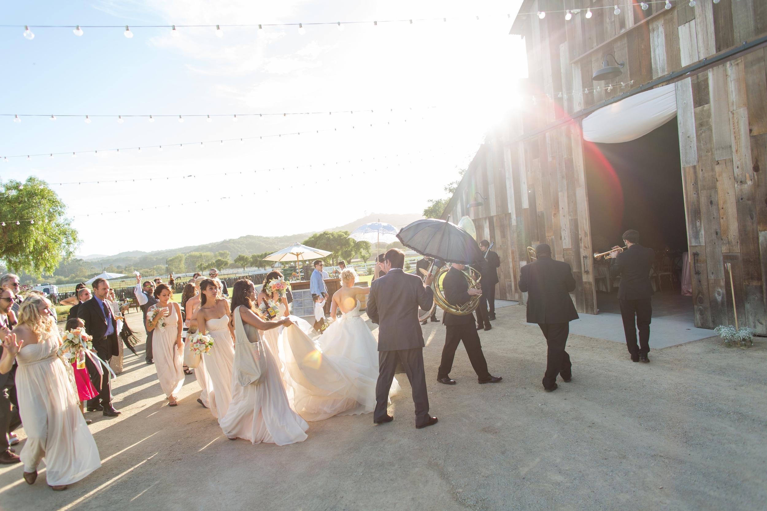 Emily + Matthew Wedding in San Luis Obispo, CA: The Mudbug Brass Band!