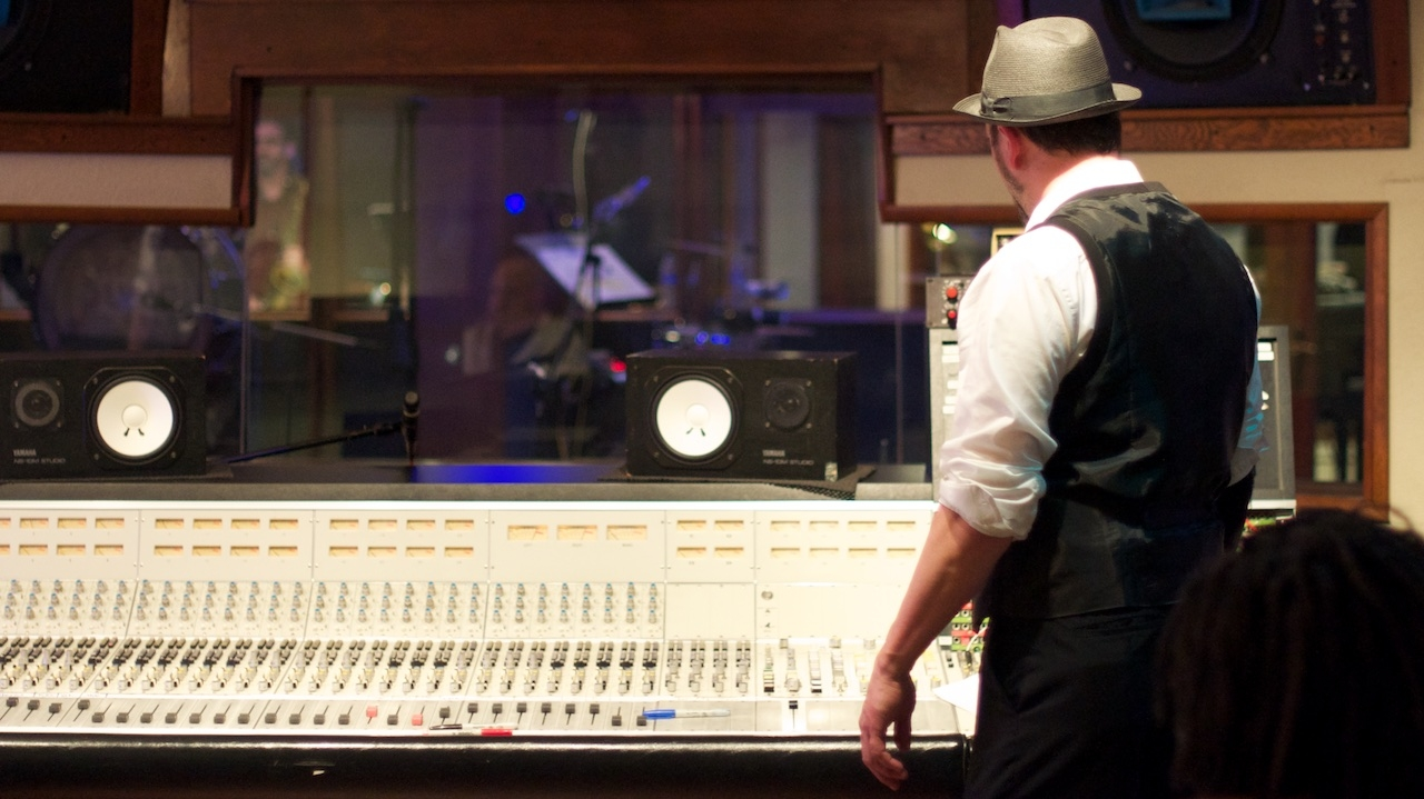 Tim Ganard at Stagg Street Studios! The Mudbug Brass Band