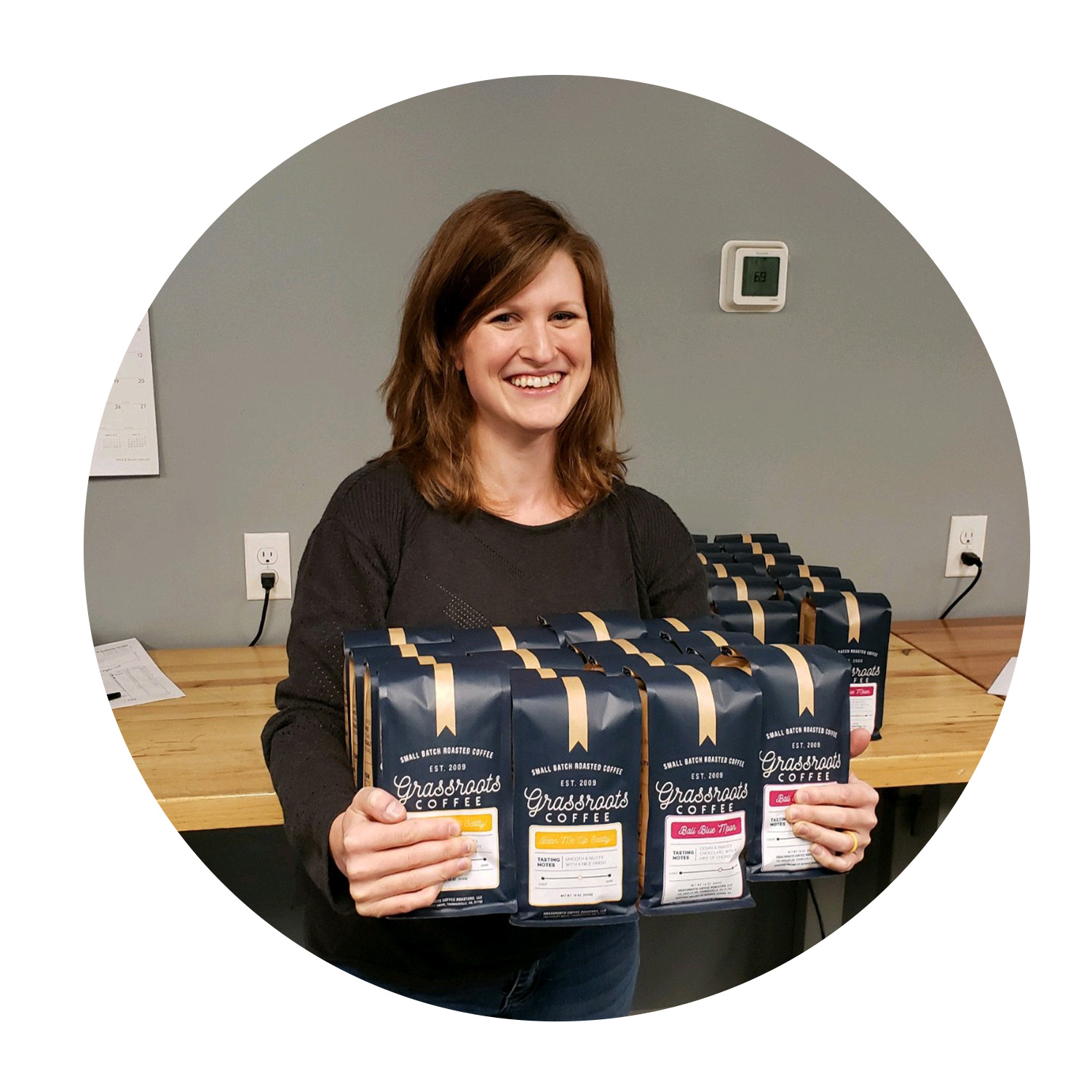 Amanda Humphries - Wholesale Manager   Amanda takes care of our wholesale customers and keeps us busy with new projects at the roaster warehouse! If you've got leads for wholesale coffee customers - send them her way! She will thank you with … well, coffee.    Favorite Coffee: Georgia Blues