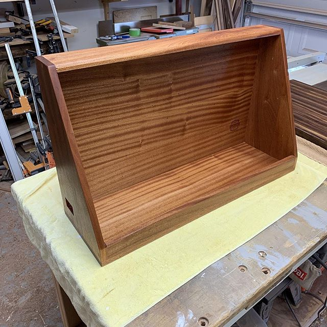 I am in love with the golden brown that showed up while applying finish on this mahogany!