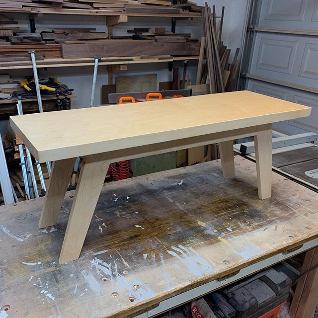 A maple bench, am I right? I pushed myself out of my comfort zone on this build. However, cutting the geometric mid century modern legs wasn't as bad as I thought it would be. Let me make one for you.