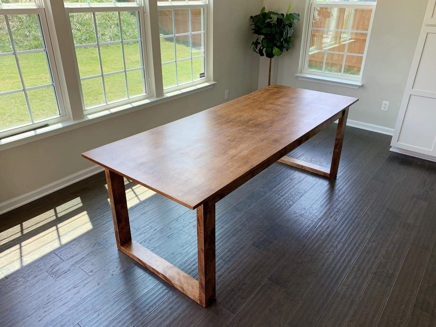 Stained Maple Dining Table