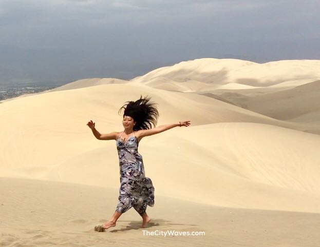 Vehllia dancing Huacachina Peru.jpg