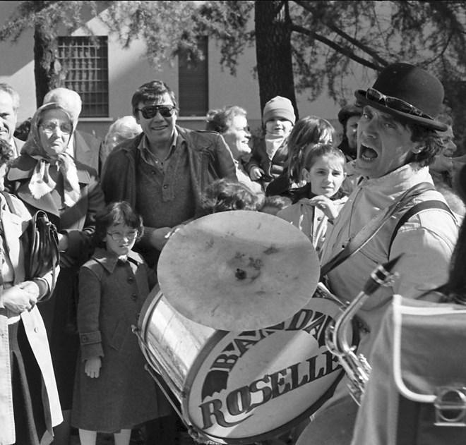 Photo of Alessandro Moruzzi in Villa Paradiso, Bologna 1983 by Andrea Fabbri Cossarini