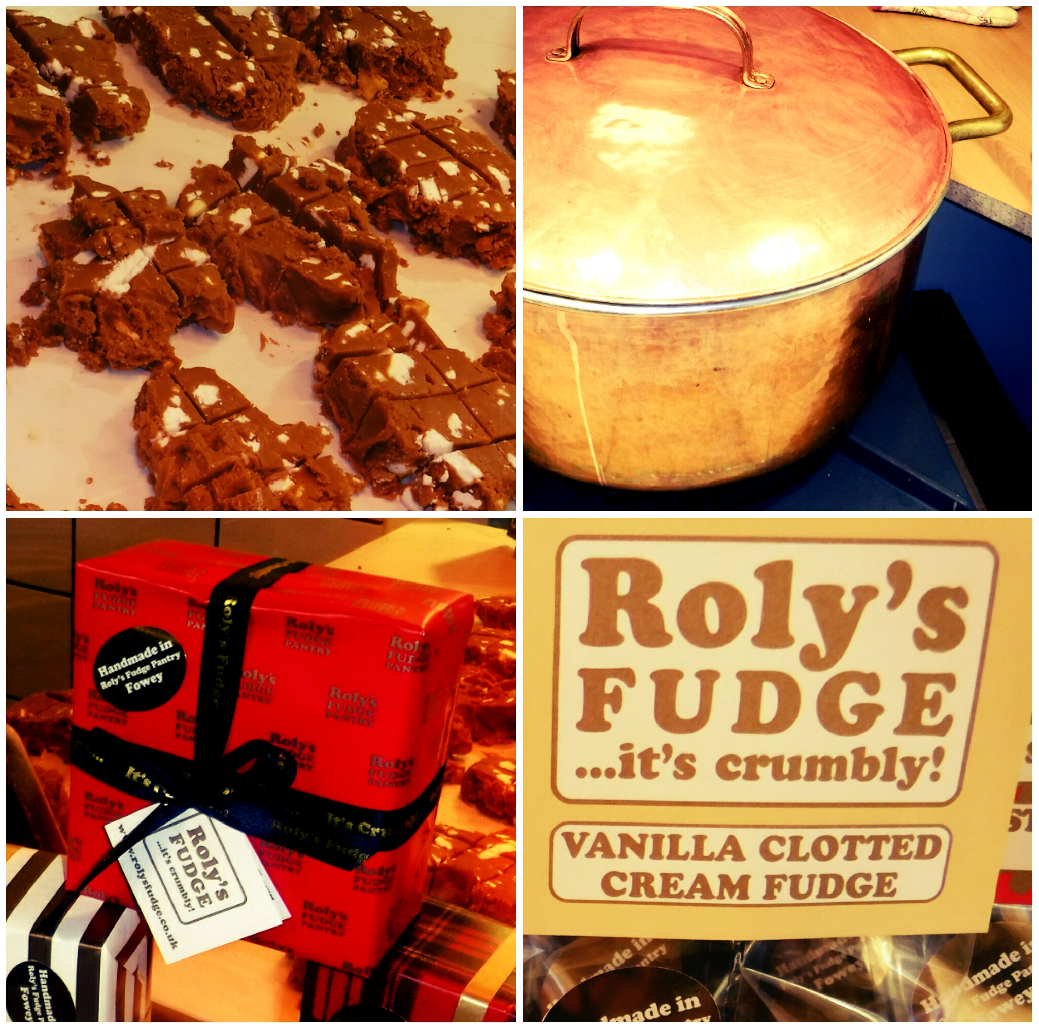 With the weather being as it is this weekend the shops in Fowey are doing well! One of the best newcomers this year is Roly's Fudge. Having spent a little over 40 years avoiding fudge I am finally a convert. Freshly made on the premises this stuff is amazing, there are plenty of samples on hand to try and once you've tasted 'Lemon Meringue' or the seasonal 'Christmas Pudding' flavour you will not leave empty handed!  Find out more at:https://rolysfudge.co.uk/ or https://twitter.com/RolysFudge